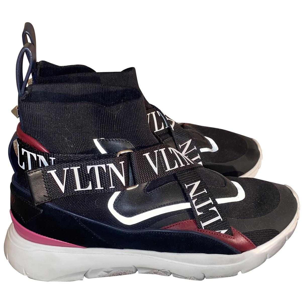 Valentino Garavani - Baskets Sneakers chaussettes VLTN  pour femme en toile - noir