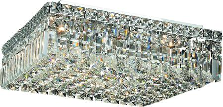 V2032F16C/RC 2032 Maxime Collection Flush Mount L:16In W:16In H:5.5In Lt:6 Chrome Finish (Royal Cut