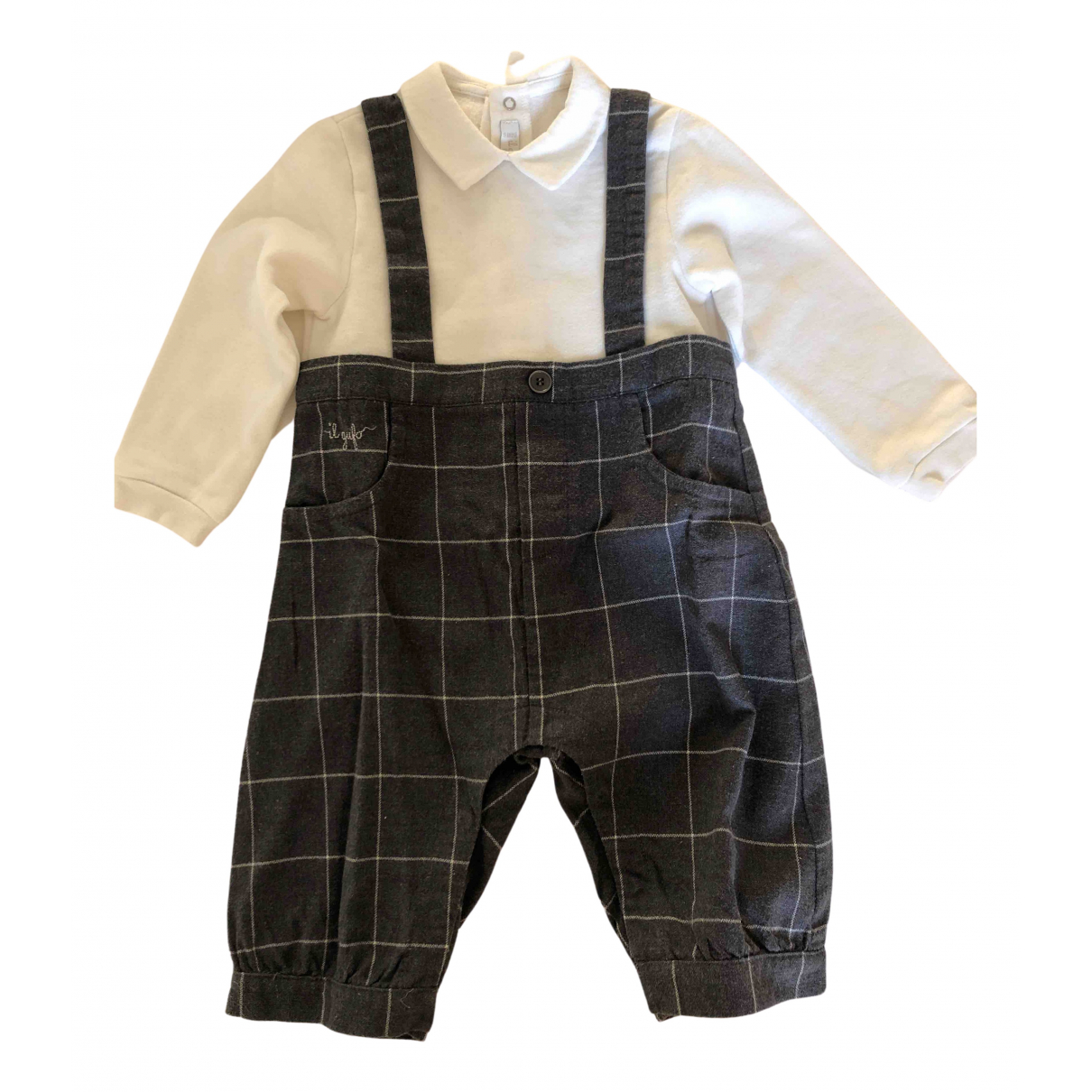 Il Gufo \N Grey Cotton Outfits for Kids 9 months - up to 71cm FR