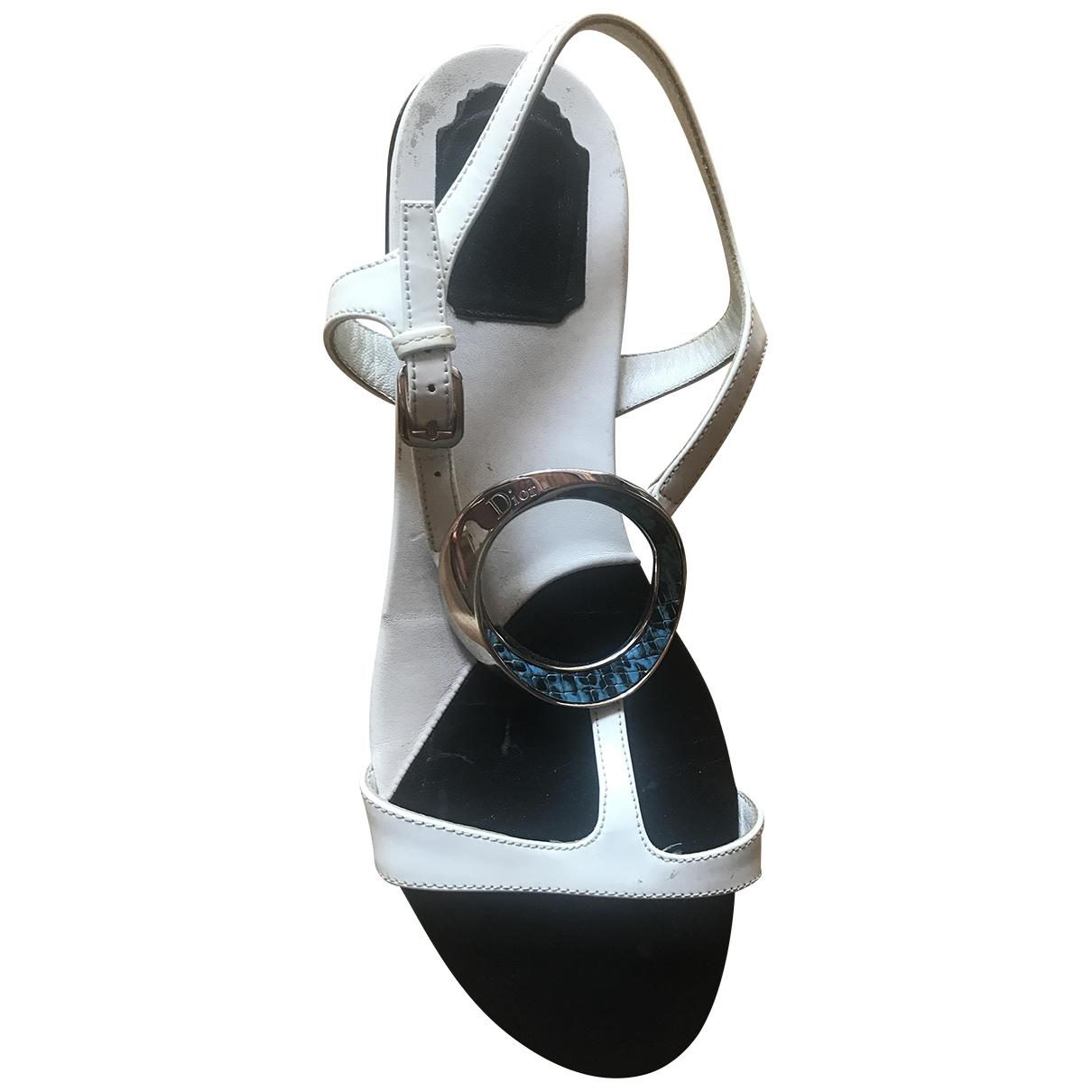 Dior - Sandales   pour femme en cuir - blanc