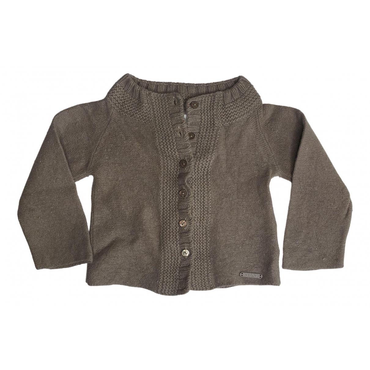 Baby Dior \N Pullover, StrickJacke in  Beige Wolle