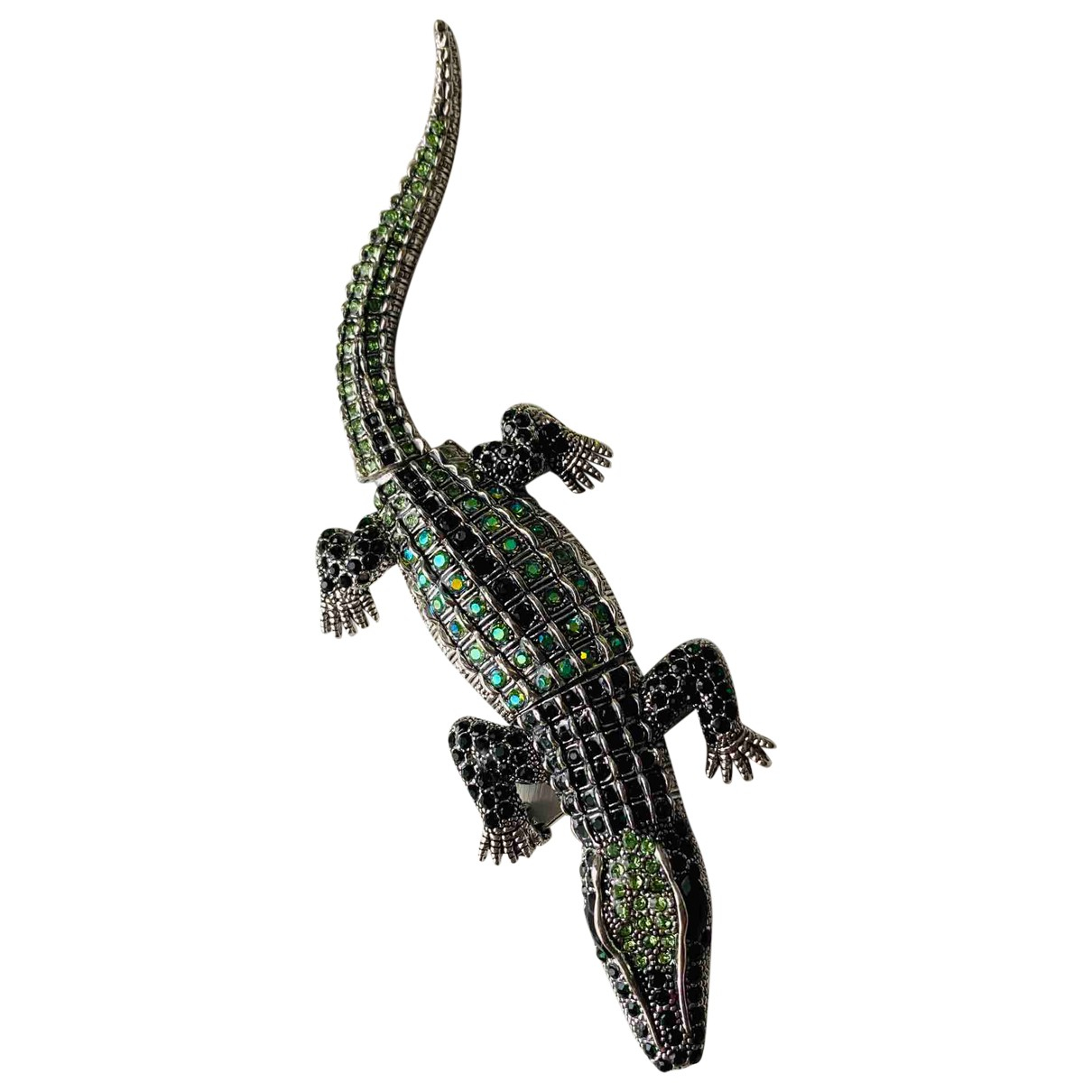 Non Signé / Unsigned Motifs Animaliers Green Metal Pins & brooches for Women N