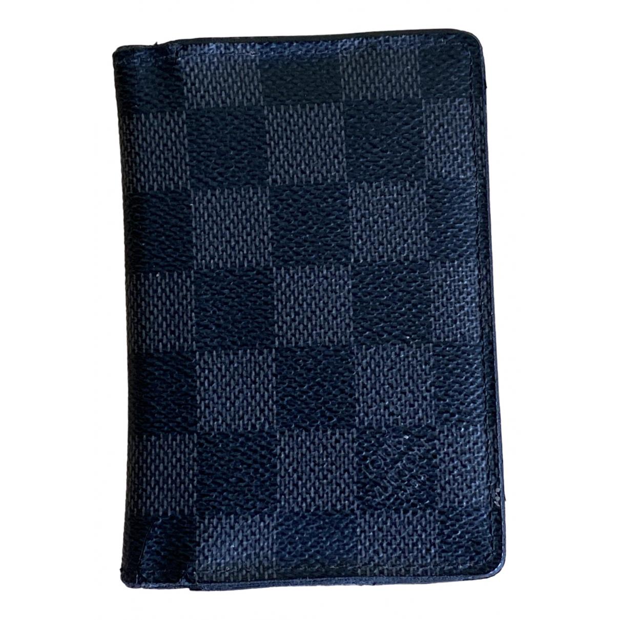 Louis Vuitton - Petite maroquinerie Pocket Organizer pour homme en toile - noir