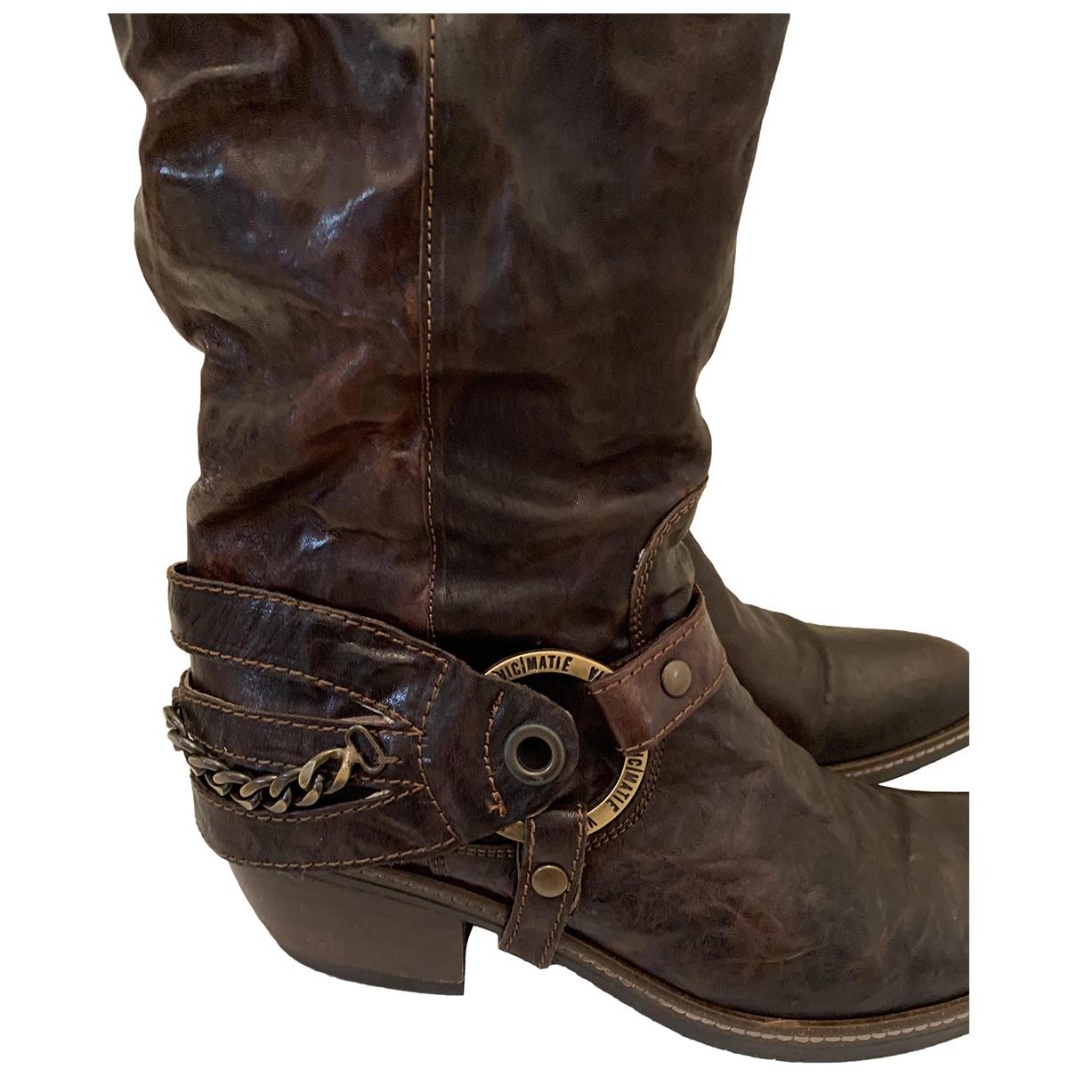 Vic Matie \N Stiefel in  Braun Leder
