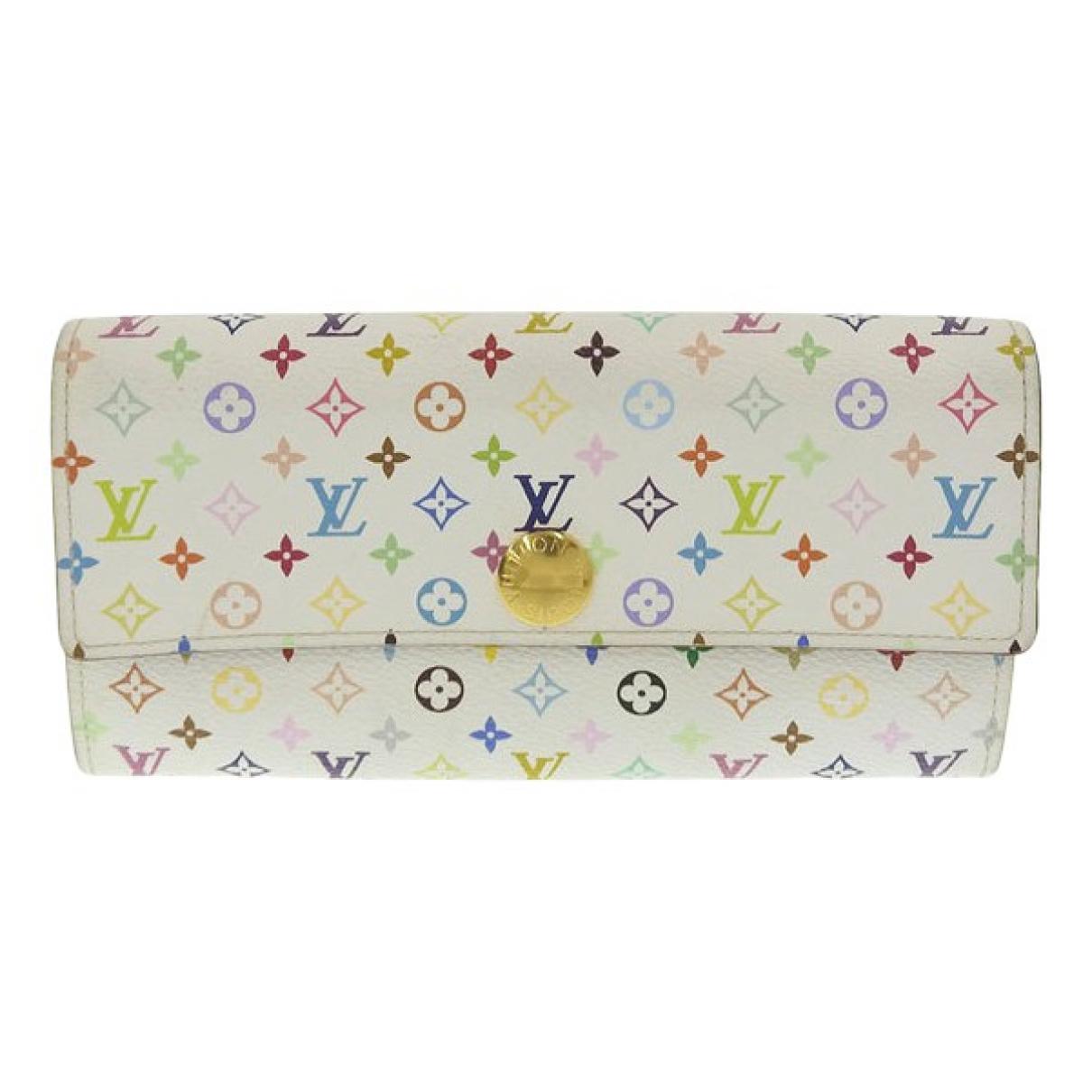 Louis Vuitton Sarah White Cloth wallet for Women N
