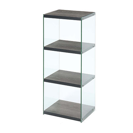 Convenience Concepts Soho 4-Tier Tower Bookcase, One Size , Gray