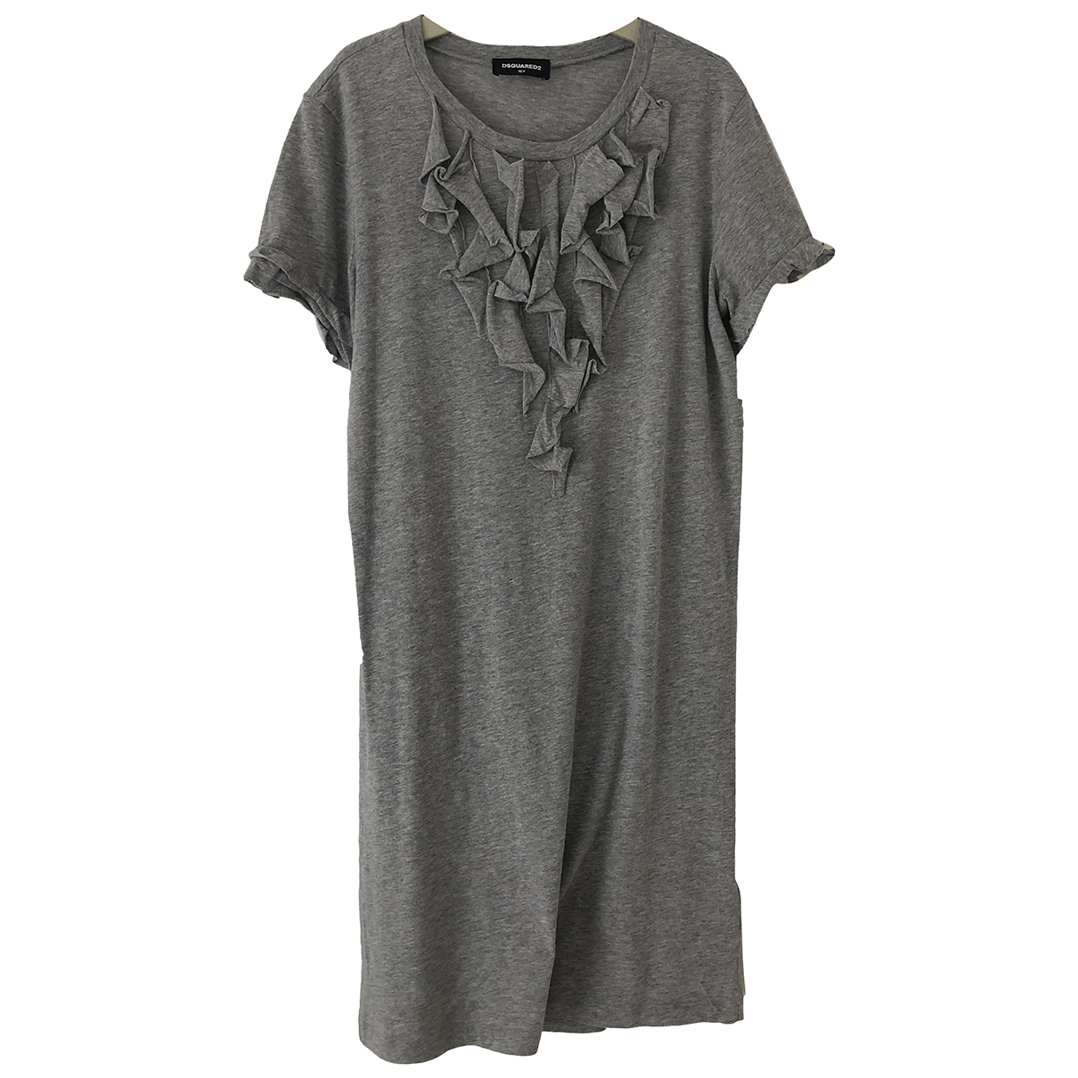 Dsquared2 \N Kleid in  Grau Baumwolle - Elasthan
