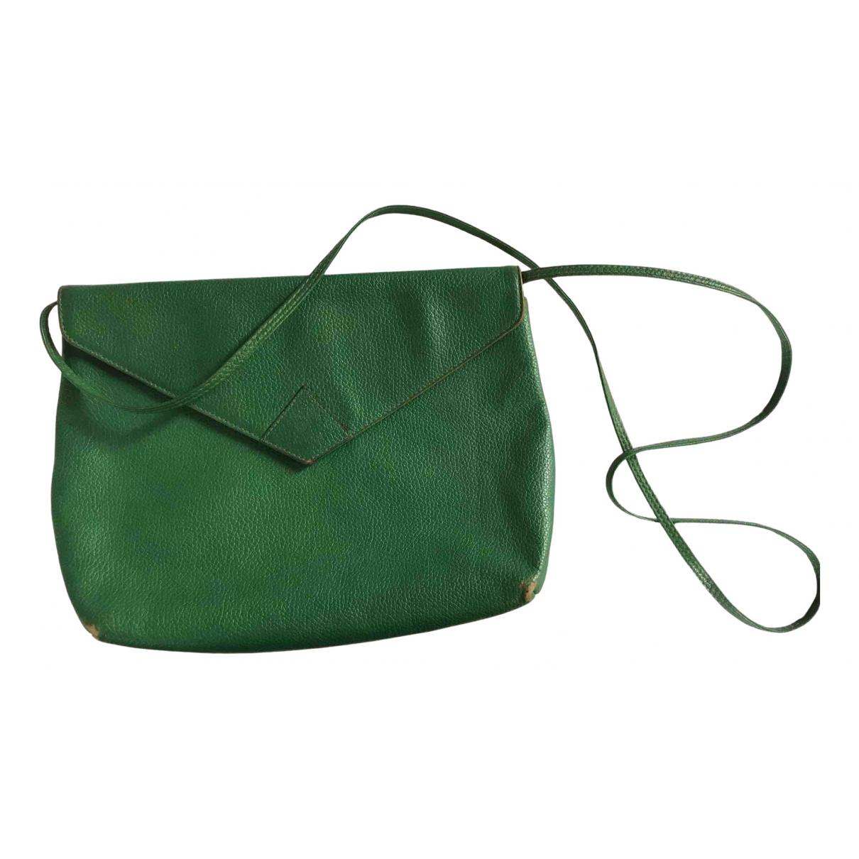 Fendi - Pochette   pour femme en cuir - vert