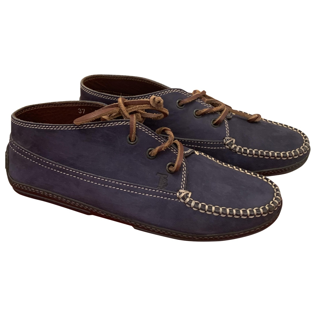 Tods - Mocassins Gommino pour femme en cuir - bleu