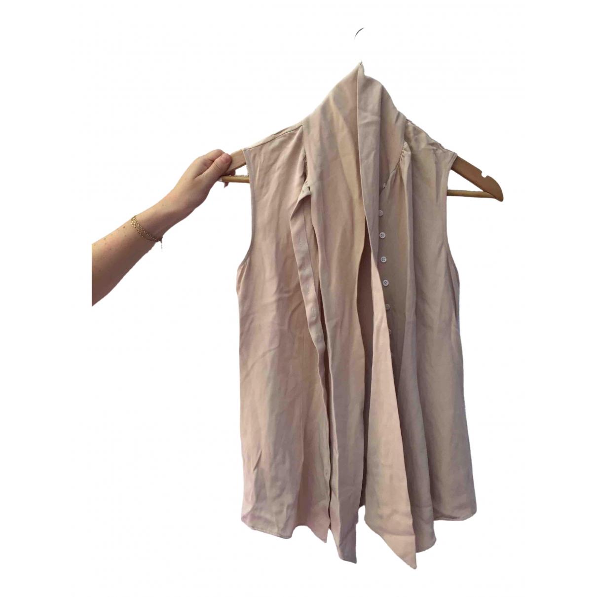 Joseph - Top   pour femme en soie - beige