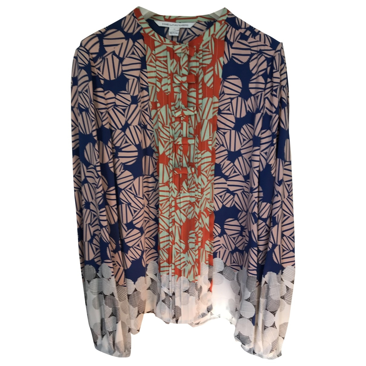Diane Von Furstenberg - Top   pour femme en soie - multicolore