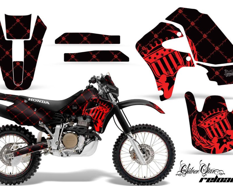 AMR Racing Graphics MX-NP-HON-XR650R-00-10-SSR R K Kit Decal Sticker Wrap + # Plates For Honda XR650R 2000-2010?RELOADED RED BLACK