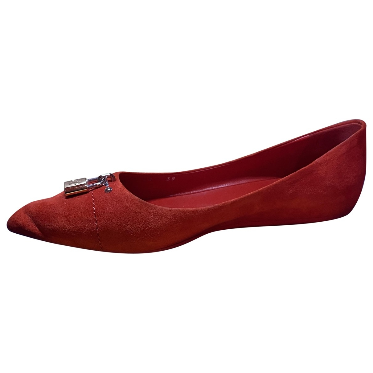 Louis Vuitton \N Ballerinas in  Rot Veloursleder