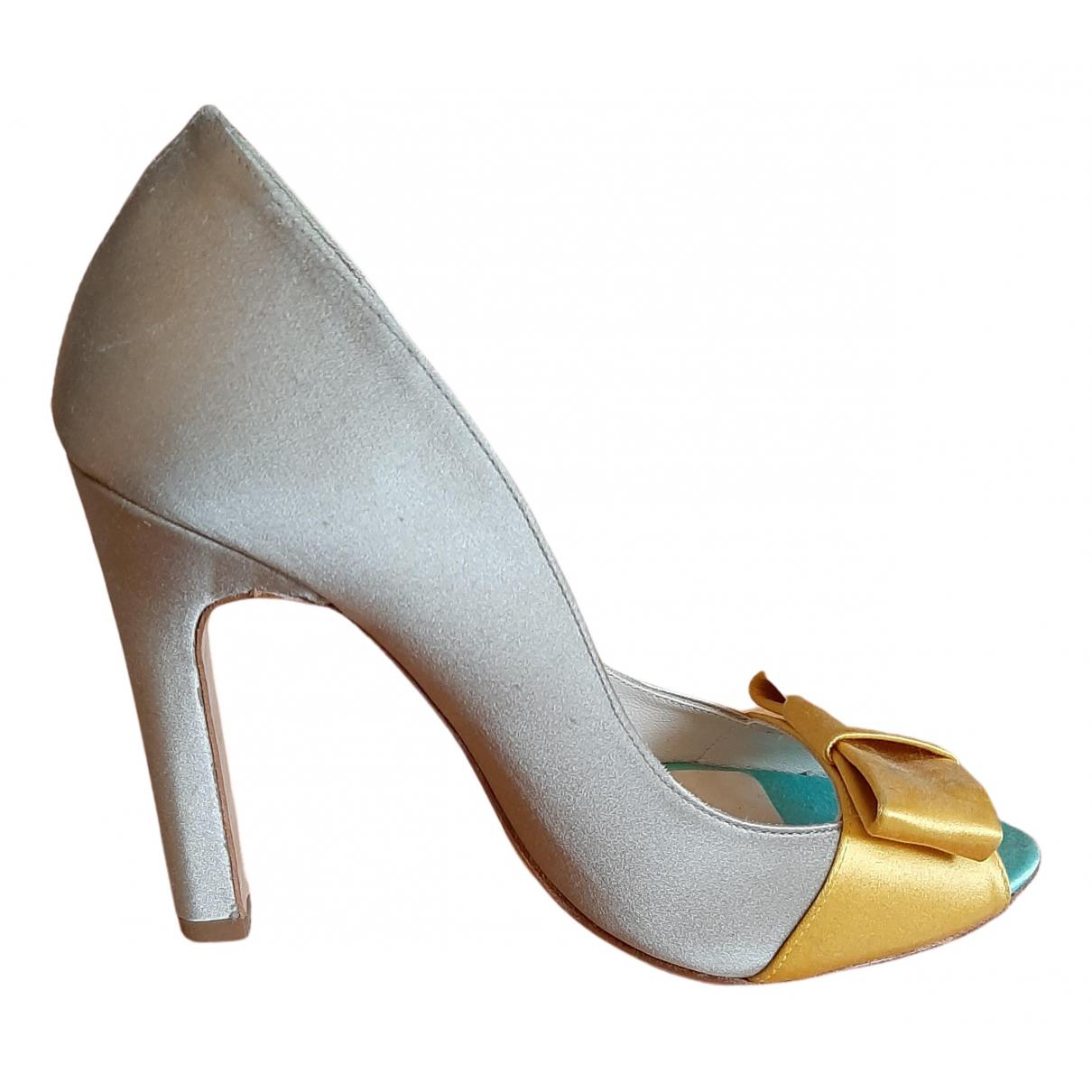 Mellow Yellow N Metallic Leather Heels for Women 38 EU