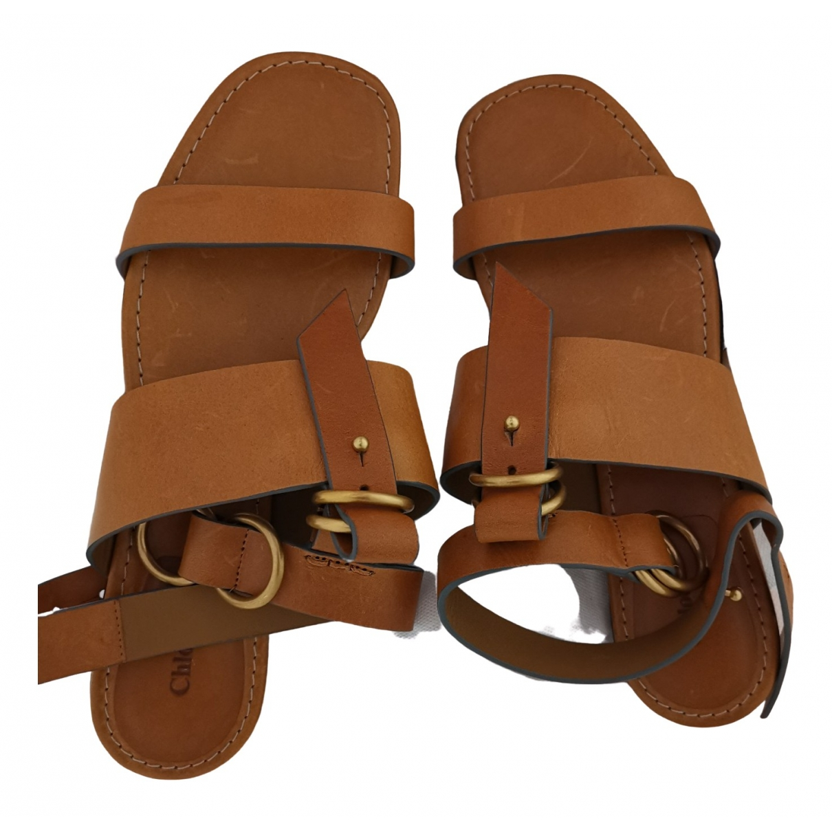 Chloé \N Camel Leather Sandals for Women 37.5 EU