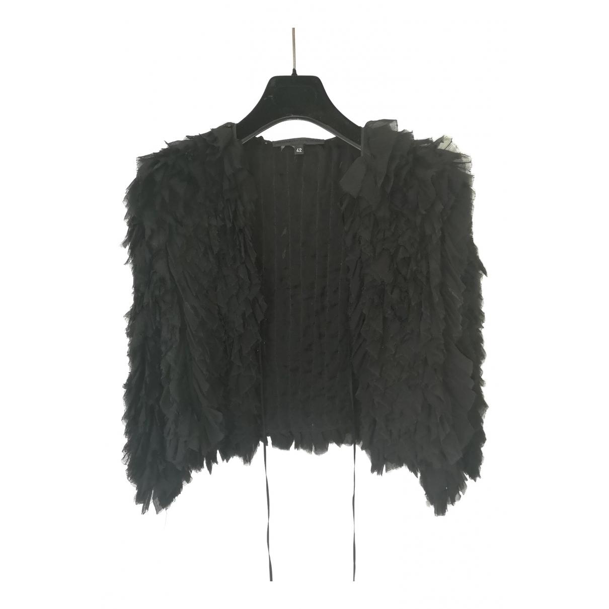 Alessandro Dellacqua - Top   pour femme en soie - noir