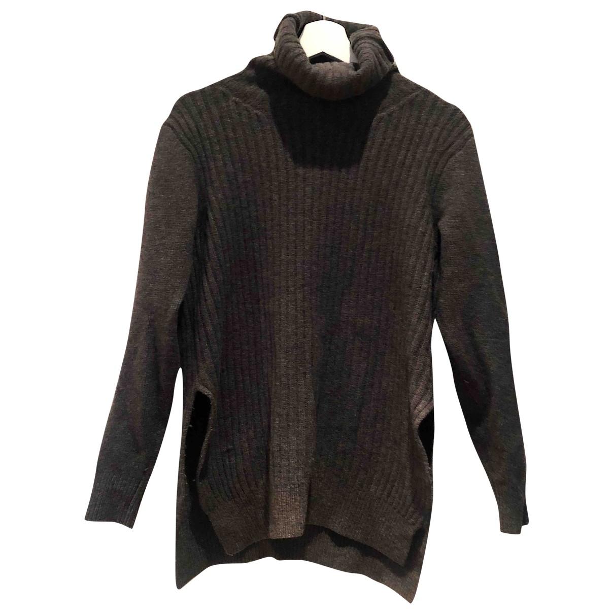 Ganni - Pull   pour femme en laine - anthracite