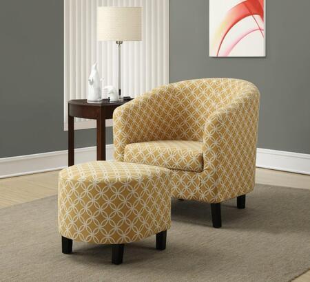 I 8059 Accent Chair - 2pcs Set/ Burnt Yellow