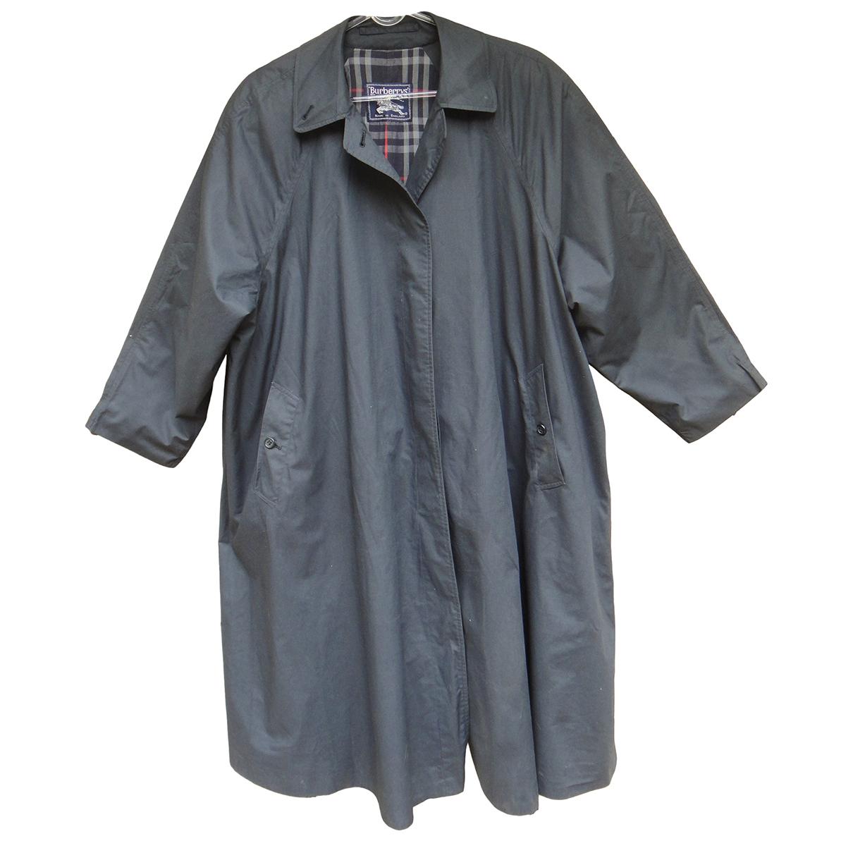 Burberry - Manteau   pour femme en coton - marine