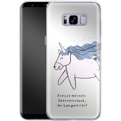 Samsung Galaxy S8 Plus Silikon Handyhuelle - Sternstaub von caseable Designs