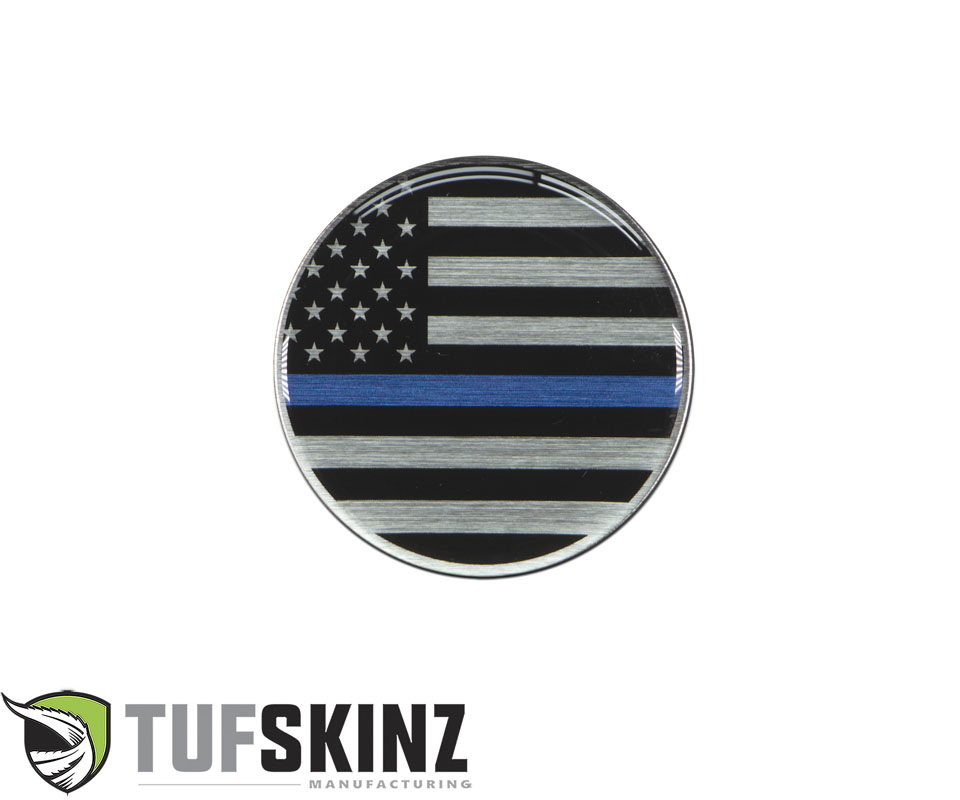 Tufskinz JEX059-GTO-003-G Rated Badge Fits Jeep 1 Piece Kit in Thin Blue Line Edition
