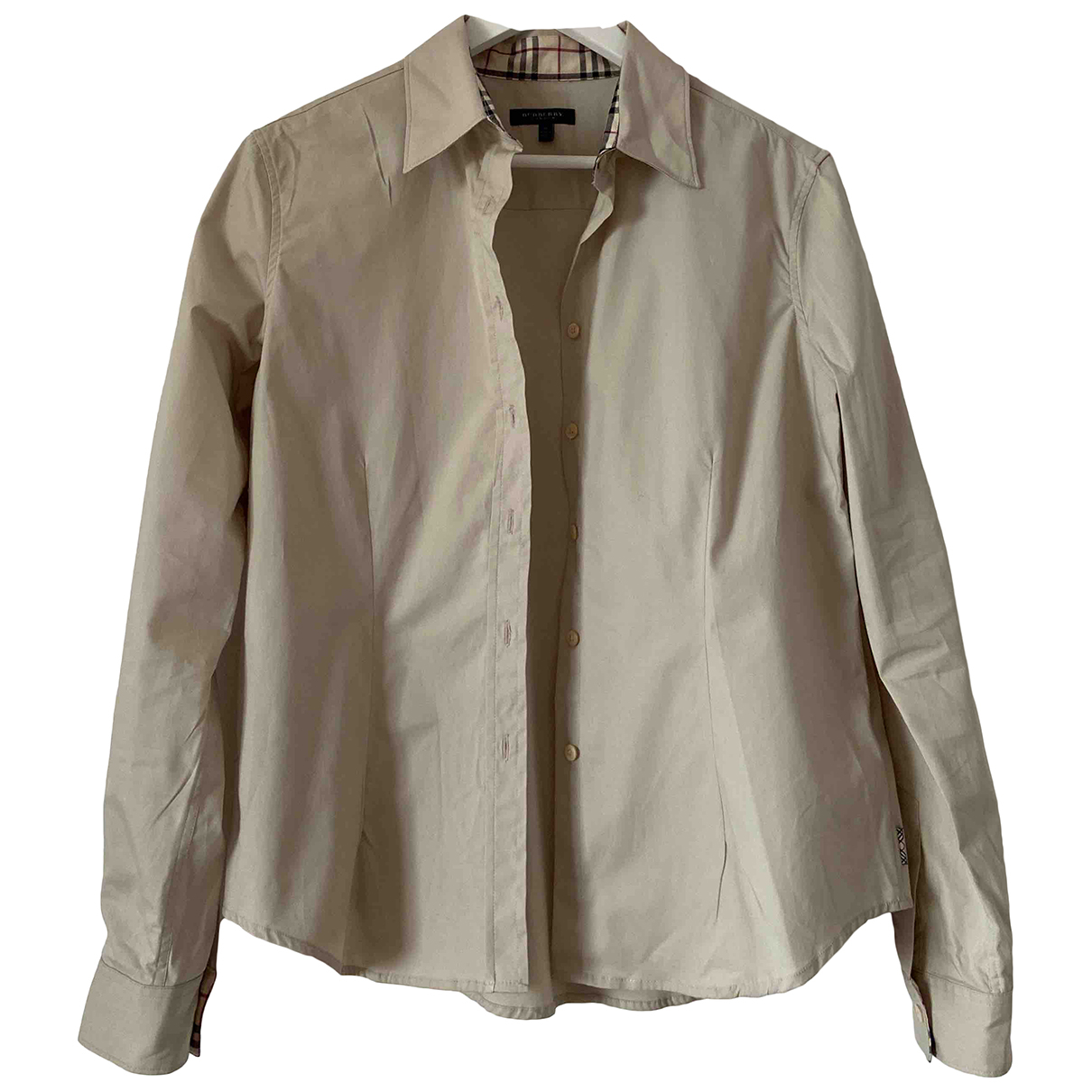 Burberry - Top   pour femme en coton - beige