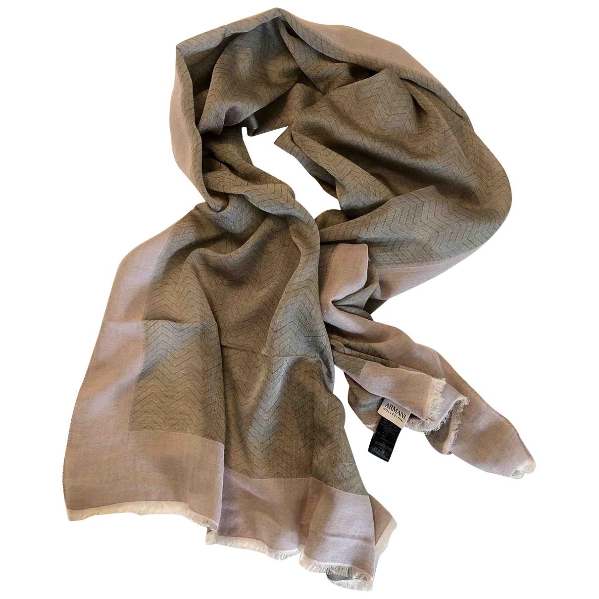 Armani Collezioni \N Grey Cotton Silk handkerchief for Women \N