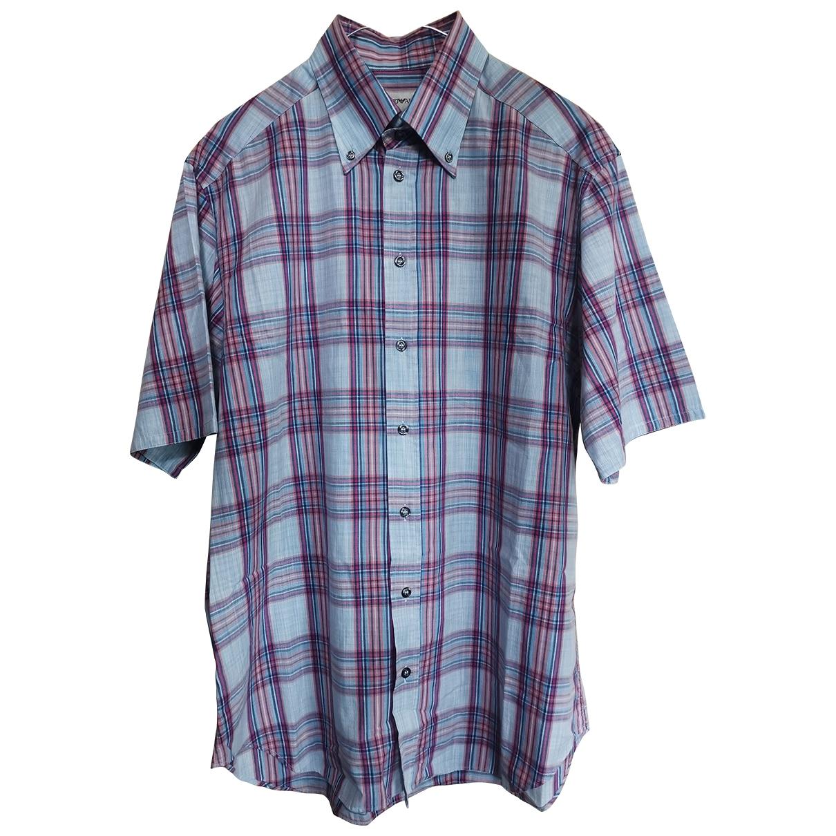 Emporio Armani - Chemises   pour homme en coton - multicolore