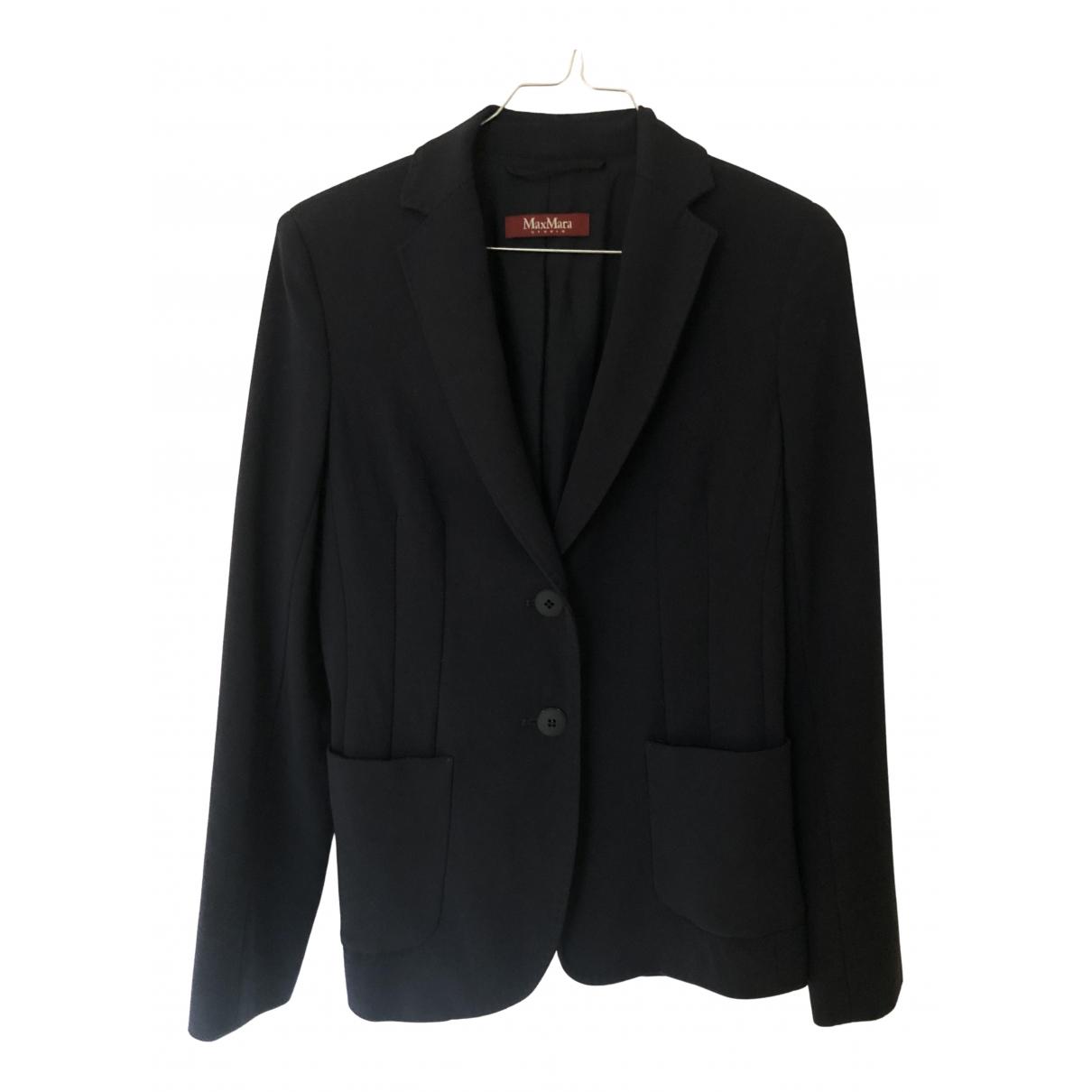 Max Mara Studio N Blue Wool jacket for Women 40 IT