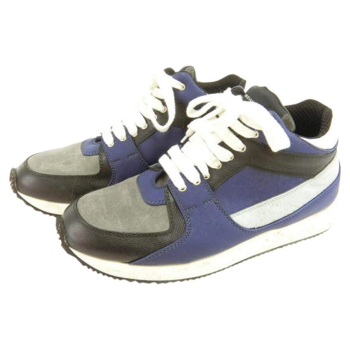 Kris Van Assche - Baskets   pour homme en suede - bleu
