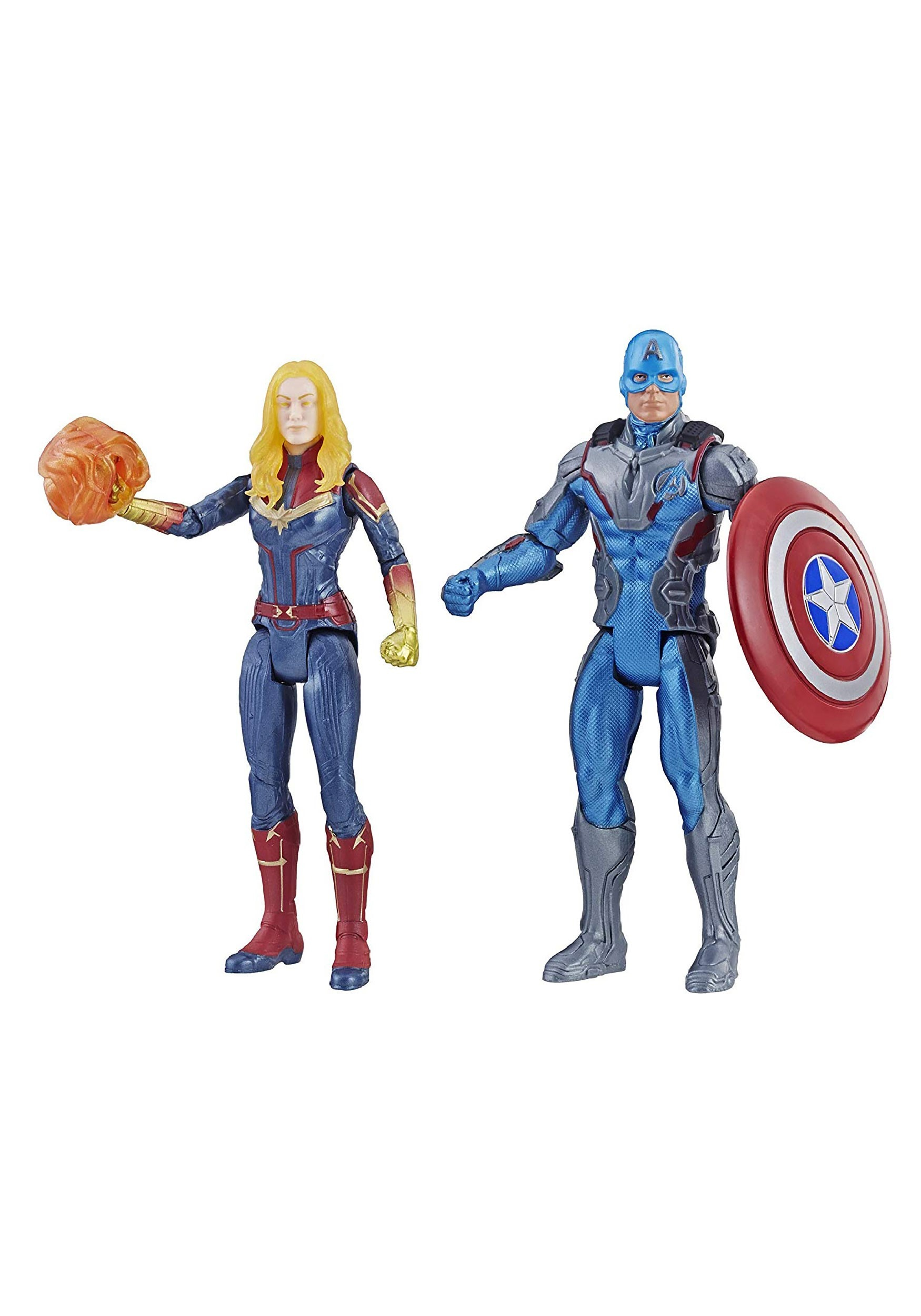 Avengers: Endgame Captain America & Captain Marvel Action Figure 2-pack