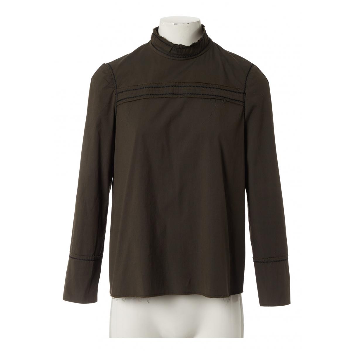 Prada - Top   pour femme en coton - kaki