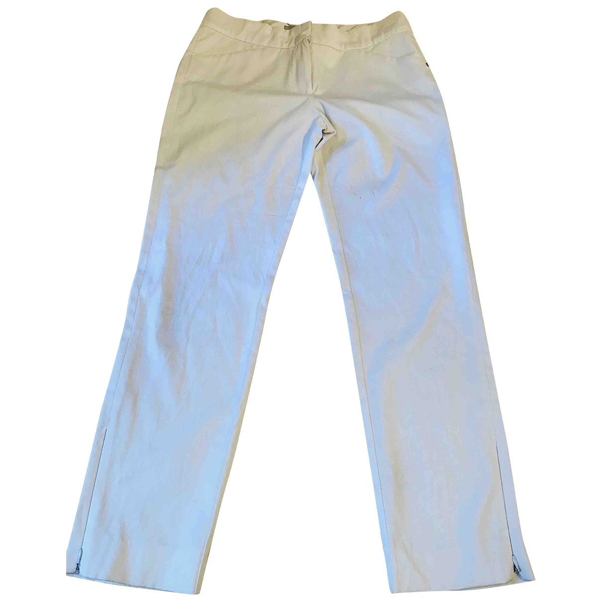 Sport Max \N White Cotton Jeans for Women 38 FR