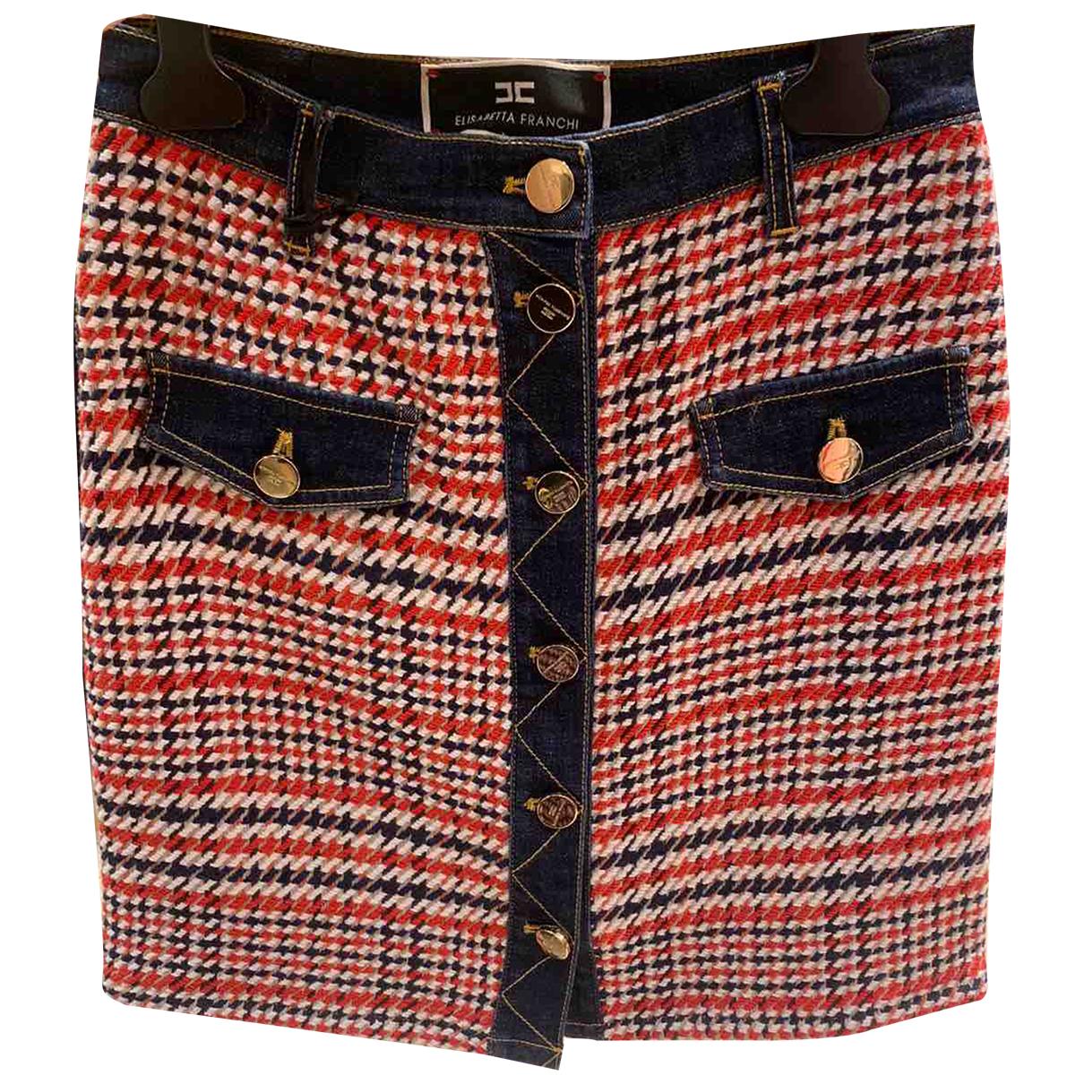 Elisabetta Franchi N Navy Denim - Jeans skirt for Women 40 FR
