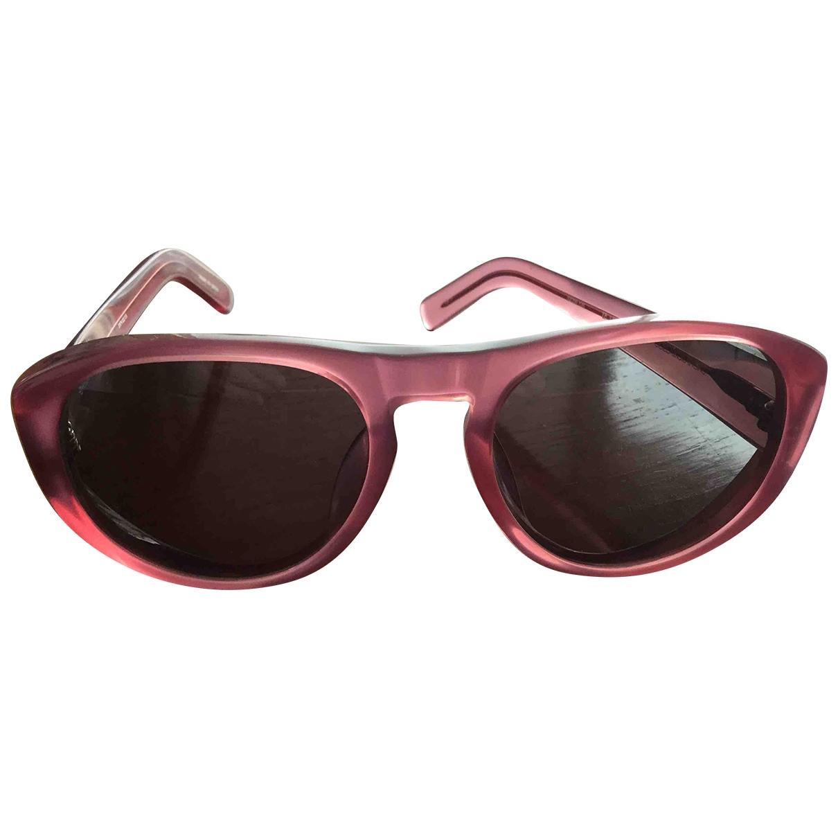 Dries Van Noten \N Sonnenbrillen in  Rosa Kunststoff