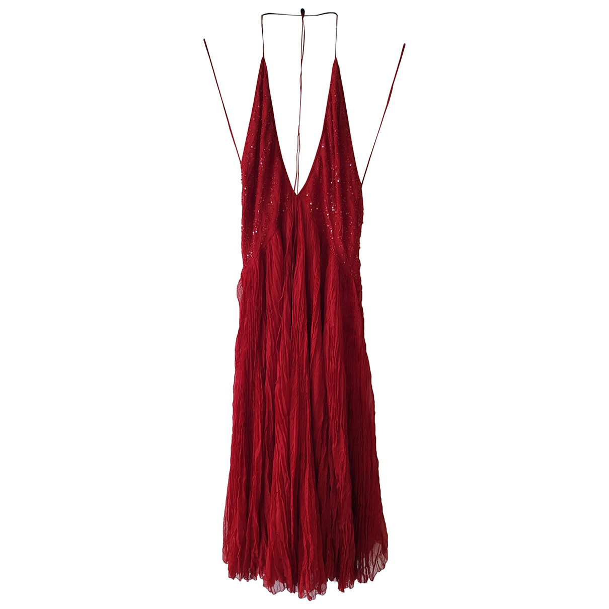 Donna Karan \N Kleid in  Rot Seide