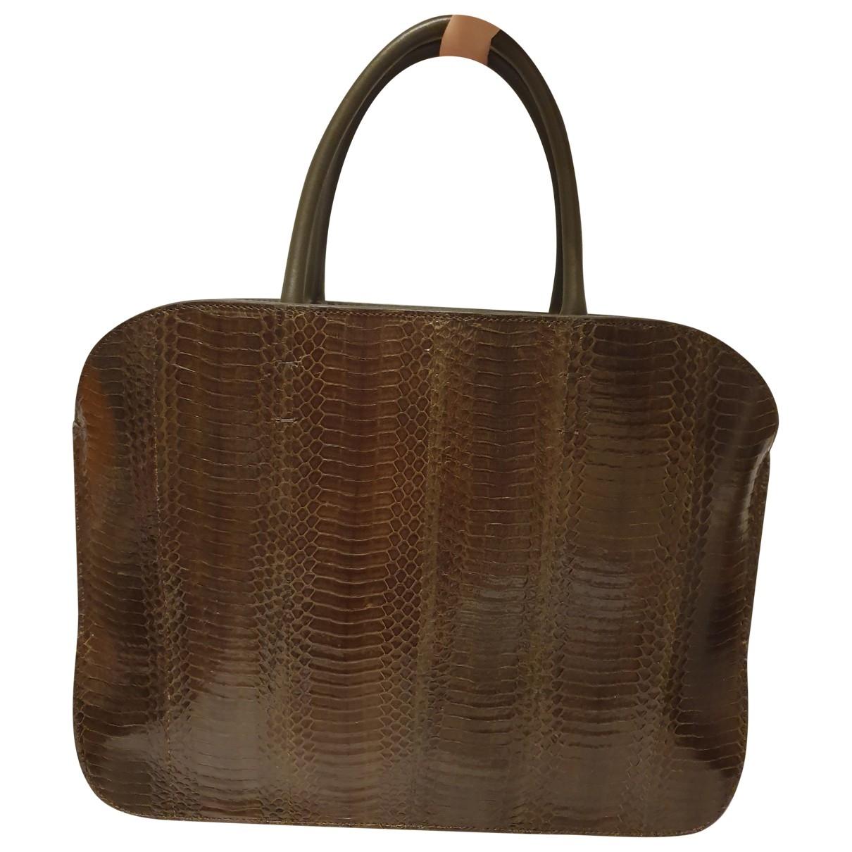 Nina Ricci \N Green Python handbag for Women \N