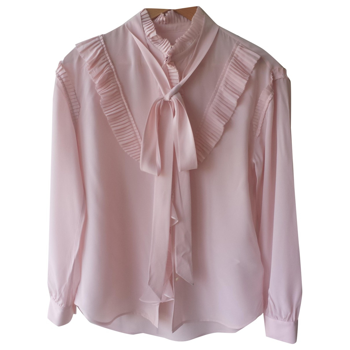 Coach \N Pink Silk  top for Women 6 US