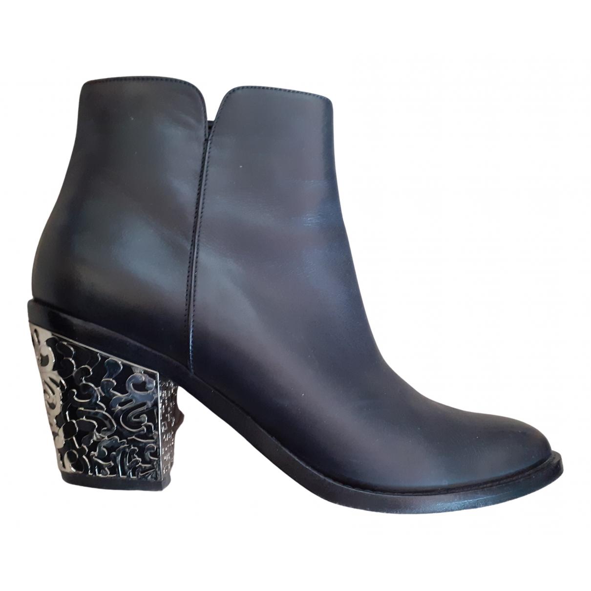 Le Silla - Boots   pour femme en cuir - noir
