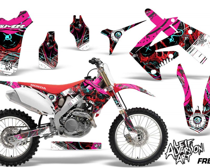 AMR Racing Dirt Bike Graphics Kit Decal Sticker Wrap For Honda CRF250R 2010-2013áFRENZY RED
