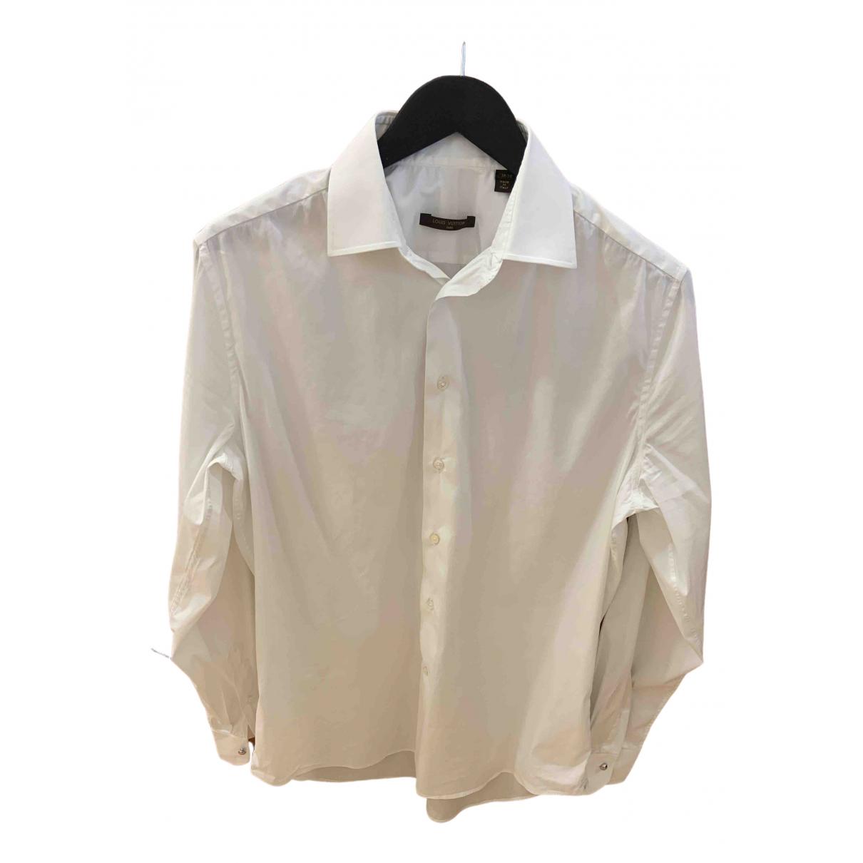 Louis Vuitton N White Cotton Shirts for Men 38 EU (tour de cou / collar)