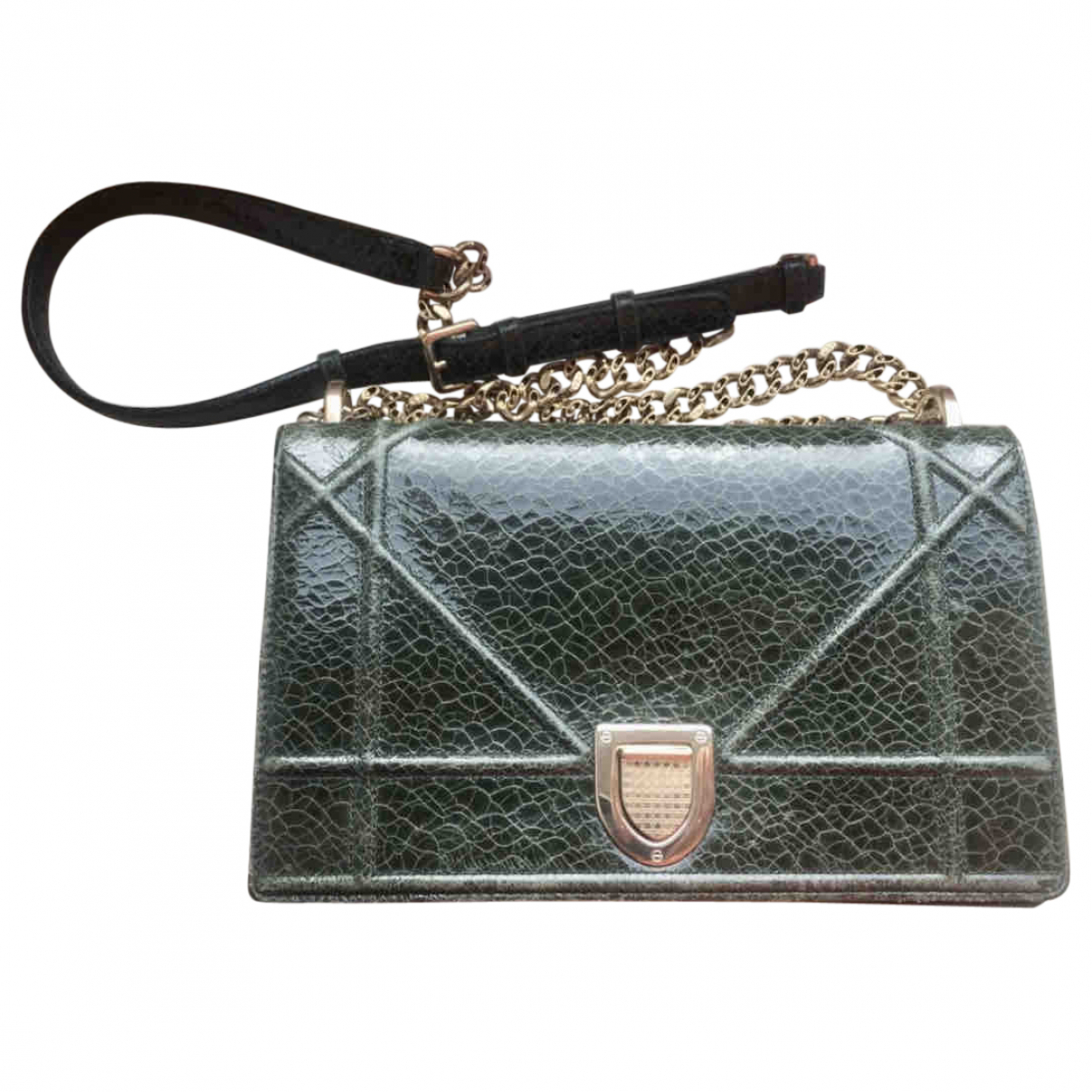 Dior Diorama Green Leather handbag for Women \N