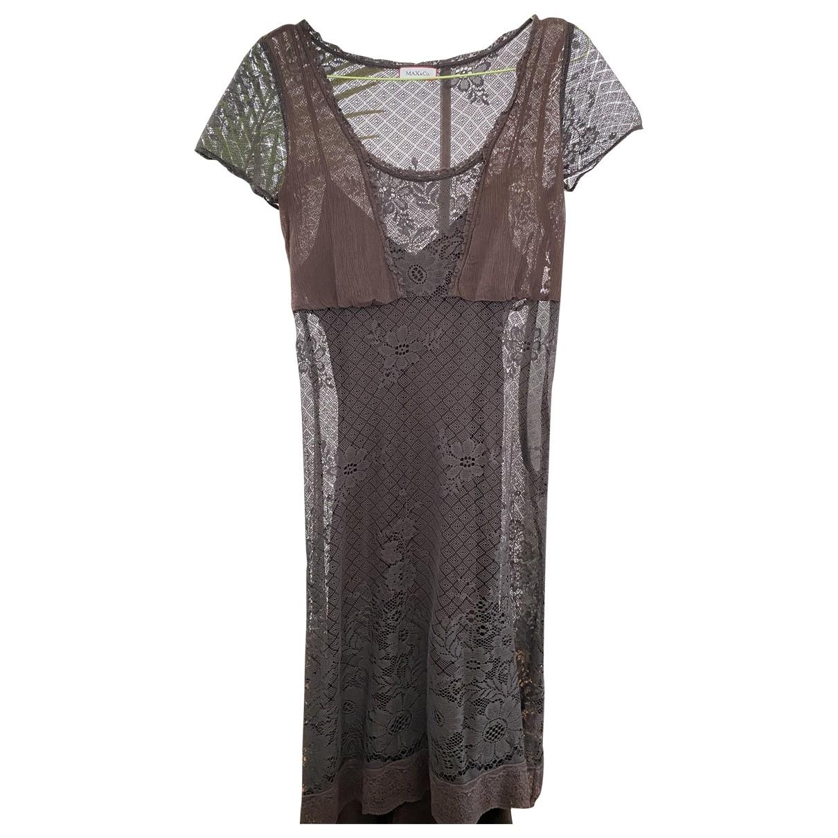 Max & Co - Robe   pour femme en soie - marron