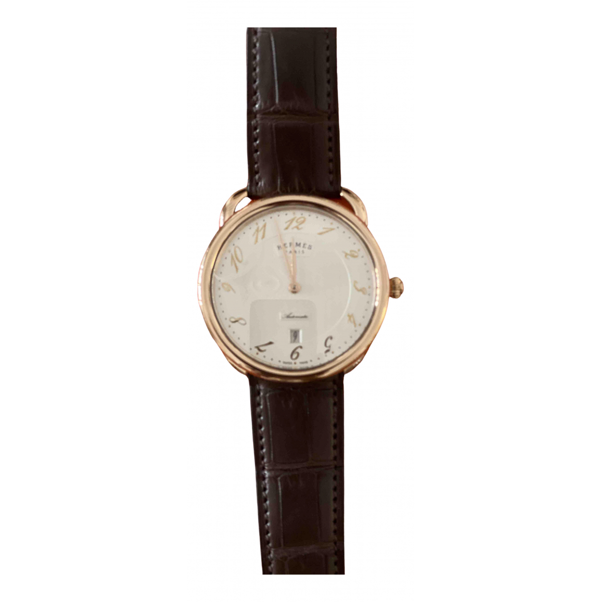 Hermès Arceau Gold Pink gold watch for Men \N