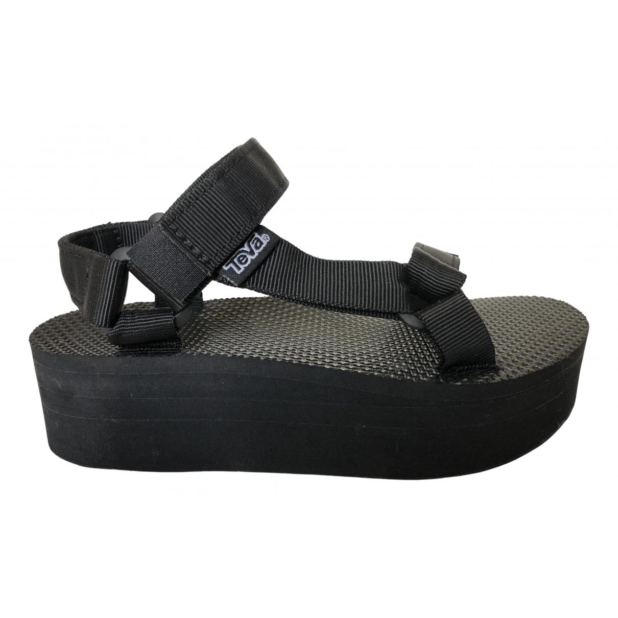 Teva - Sandales   pour femme en toile - noir