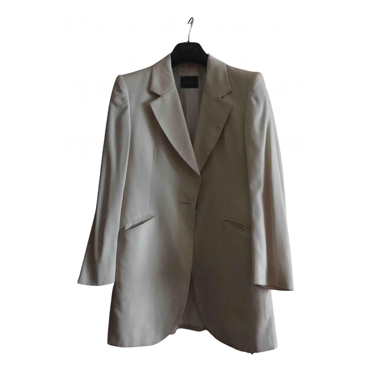 Brooksfield - Veste   pour femme en laine - blanc