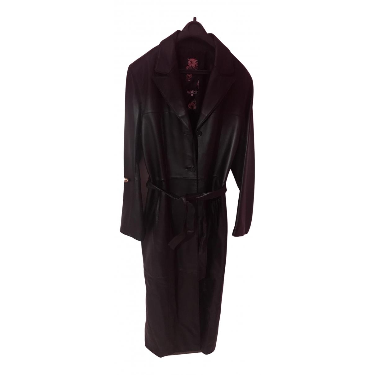 Oakwood N Black Leather coat for Women 44 FR