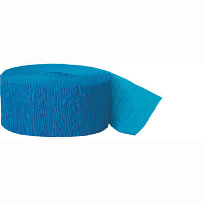 Party Streamer Party Decorations Crepe Paper 81 ft - Turquoise