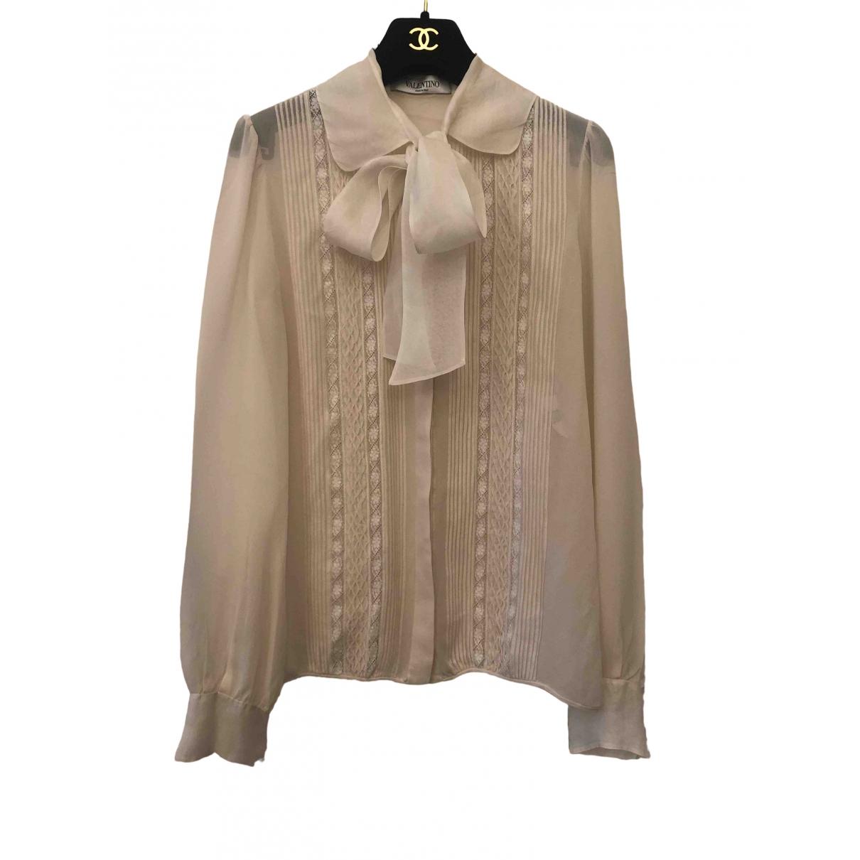 Valentino Garavani \N Ecru Silk  top for Women 38 FR