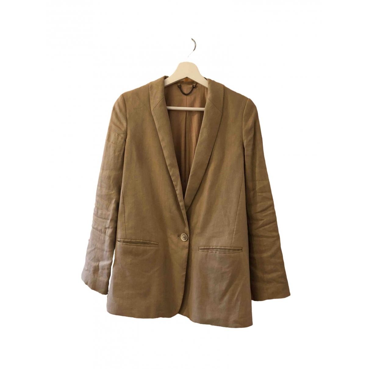 Jigsaw - Veste   pour femme en lin - beige